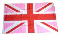 Fahne / Flagge Großbritannien Pink 90 x 150 cm