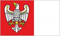 Fahne / Flagge Polen - Woiwodschaft Großpolen 90 x 150 cm