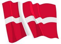 Fahnen Aufkleber Sticker Dänemark wehend