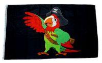 Fahne / Flagge Piratenpapagei 90 x 150 cm