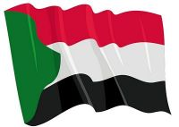Fahnen Aufkleber Sticker Sudan wehend
