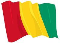 Fahnen Aufkleber Sticker Guinea wehend