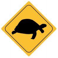 Autoaufkleber Sticker Achtung Schildkröte NEU Aufkleber
