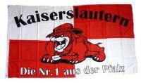 Fahne / Flagge Kaiserslautern Bulldogge 90 x 150 cm