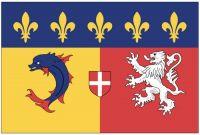 Fahnen Aufkleber Sticker Frankreich - Rhone Alpes