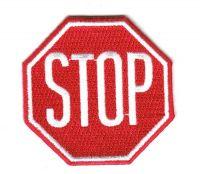 Aufnäher Patch STOP