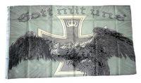 Fahne / Flagge Gott mit uns Reichsadler NEU 90 x 150 cm