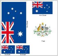 Fahnen Aufkleber Set Australien