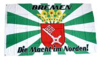 Fahne / Flagge Bremen - Macht im Norden 90 x 150 cm