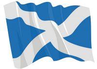 Fahnen Aufkleber Sticker Schottland wehend