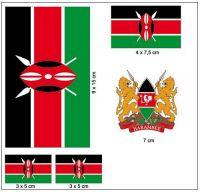 Fahnen Aufkleber Set Kenia