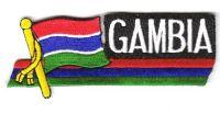 Fahnen Sidekick Aufnäher Gambia