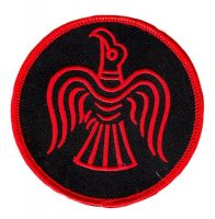 Aufnäher Patch Raven Wikinger Odin rot