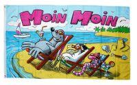 Fahne / Flagge Moin Moin Strand 90 x 150 cm