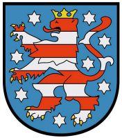 Wappenschild Aufkleber Sticker Thüringen