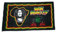 Fahne / Flagge Bob Marley Hanf 90 x 150 cm