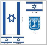 Fahnen Aufkleber Set Israel
