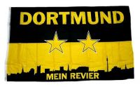 Fahne / Flagge Dortmund Mein Revier 150 x 250 cm