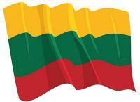 Fahnen Aufkleber Sticker Litauen wehend
