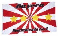 Fahne / Flagge Bayern Deutschlands Nr. 1 90 x 150 cm
