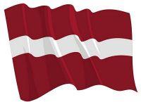 Fahnen Aufkleber Sticker Lettland wehend