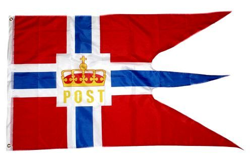 Fahne / Flagge Norwegen Post Hurtigruten 90 x 150 cm