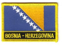 Fahnen Aufnäher Bosnien Herzegowina Schrift