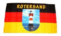 Fahne / Flagge Leuchtturm Roter Sand 30 x 45 cm