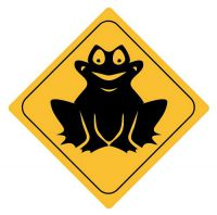 Aufkleber Sticker Achtung Frosch Autoaufkleber