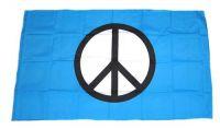 Fahne / Flagge Peace Zeichen blau 30 x 45 cm