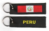 Fahnen Schlüsselanhänger Peru
