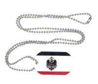Erkennungsmarke Kaiserreich Adler Dog Tag 30 x 50 mm Fahnen Flaggen