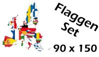 Flaggenset Europäische Union 90 x 150 cm