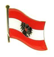 Flaggen Pin Fahne Österreich mit Wappen Anstecknadel