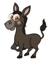 Aufkleber Sticker Esel