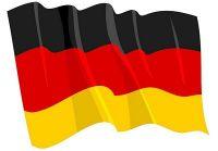 Fahnen Aufkleber Sticker Deutschland wehend