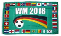 Fahne / Flagge WM 2018 Russland 32 Länder 90 x 150 cm
