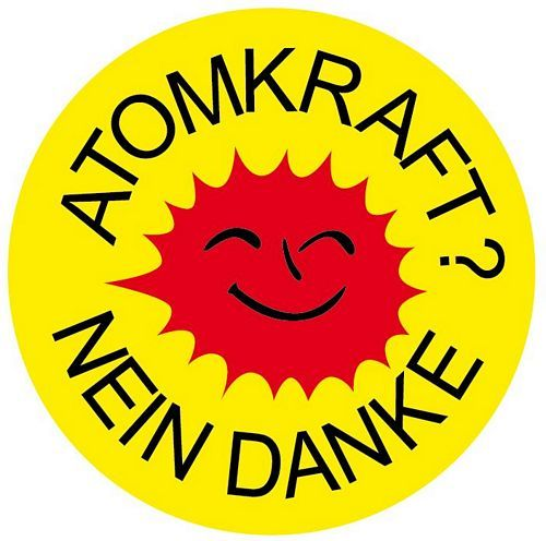 Aufkleber Sticker Atomkraft Nein Danke Rund