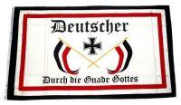 Fahne / Flagge Deutscher durch die Gnade Gottes 150 x 250 cm