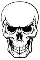 Aufkleber Sticker Totenkopf Skull