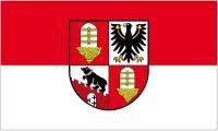 Fahne / Flagge Salzlandkreis 90 x 150 cm