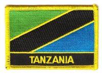 Fahnen Aufnäher Tansania Schrift
