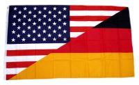 Fahne / Flagge Deutschland / USA 90 x 150 cm
