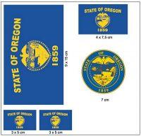 Fahnen Aufkleber Set USA - Oregon