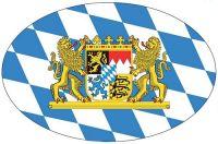 Wappen Aufkleber Sticker Freistaat Bayern Löwen