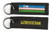 Fahnen Schlüsselanhänger Usbekistan
