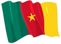 Fahnen Aufkleber Sticker Kamerun wehend