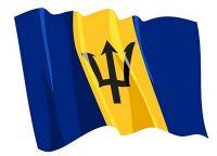 Fahnen Aufkleber Sticker Barbados wehend