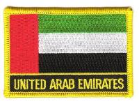 Fahnen Aufnäher Vereinigte Arabische Emirate Schrift