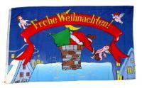 Fahne / Flagge Frohe Weihnachten Engel 90 x 150 cm